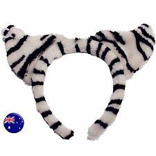 Women Girl kid Black White Striped Cat elephant Ears Party Hair Headband band