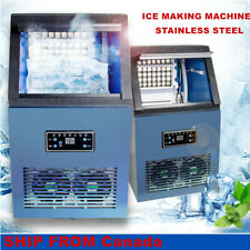 230W Commercial Ice Maker Machine Cube Stainless Steel Bar Auto Freezer 110lbs