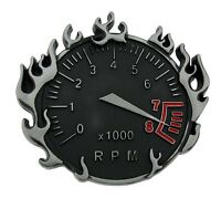 Mens Womens Belt Buckle Speedometer Metal Fashion Tattoo Gothic Flaming Tribal