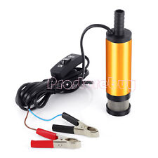 12V Car DC Diesel Fuel Transfer Submersible Pump 38mm Water Oil Diesel  Pump US