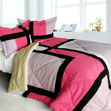 [Girl Boudoir] Quilted Patchwork Down Alternative Comforter Set (Twin Size)