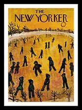 Framed The New Yorker - 17 January 1953 Illustrated by A. Birnbaum - Iceskating