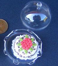 1:12 scala TORTA (HK) in un bicchiere Supporto per Torta DOLLS HOUSE miniatura Accessorio g19xl