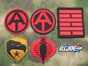 G.I.JOE Tactics Morale Embroidery Patch Cobar Snake Eyes Ninja Clan Eagle