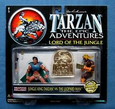 Tarzan Tarzan VS Leopard Man Action Figures 1995 Trendmasters MIB