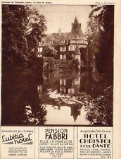 BAGNOLES ORNE HOTEL LUTETIA LABALTE CHRISTOL PENSION FABBRI TESSE  PUB 1932