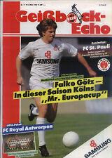 EC III 89/90 1. FC Köln - Royal Antwerpen + St. Pauli