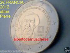 2 euro 2012 FRANCIA 100 anni ans nascita abate PIERRE abbé france frankreich