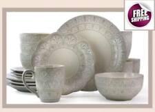 Set Dinnerware 16 Pcs Dishes Plate Bowl Mug Vintage Classic Modern Service New