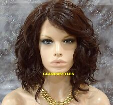 "20"" Wavy Layered Brown Full Lace Front Wig Heat Ok Hair Part Hair Piece #4 NWT"