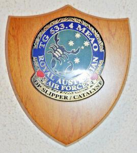 Royal Australian Air Force TG 633.4 MEAO Op Slipper Catalyst plaque shield RAAF