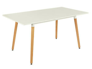 Home Charlie Extending 4-6 Seater Dining Table -White