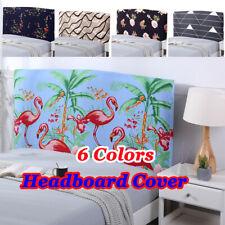 NW Flamingo Dustproof Bedroom Bed Headboard Slip Cover Protector Queen King Size