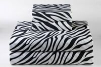 """100% Cotton Printed 4 PCs Sheet Set 15"""" Drop 800 Thread Count All Size available"""