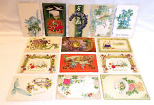 14 GOOD LUCK HORSESHOE POSTCARDS INCLUDES UNDIVIDED, GERMAN, ASSORTED GREETINGS