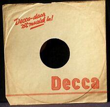 "Decca sleeve red ink Decca-daar zit muziek in! 10"" Pochette Dutch"