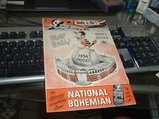 1954 Baltimore Orioles vs Chicago White Sox Program OPENING DAY April 15th RARE!