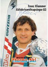 Franz Klammer  AUT   Ski Alpin Autogrammkarte original signiert 361055