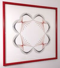 VINTAGE RETRO STRING ART FIBER SCULPTURE ABSTRACT GEOMETRIC POP OP ART 1970'S