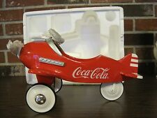 1995 COCA-COLA DIE CAST METAL PEDAL PLANE-SCALE 1:3 SIGNED BY KEN KOVACH (NIB)