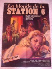 """antica manifesto cinematografica """" La Biondo de La Stazione 6 """" Luigi Bifaretti"""