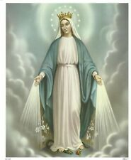 Catholic Print Picture OUR LADY OF GRACE Blessed Virgin Mary 8x10""