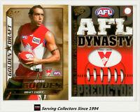 2005 Select AFL Dynasty Golden Draft DC14 Adam Goodes + Predictor Sydney