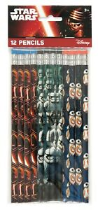NEW STAR WARS  PENCILS  PARTY FAVOURS  (12)