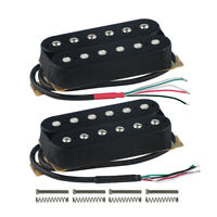 Set of Black Double Coil Humbucker Passive Electric Guitar Neck + Bridge Pickup