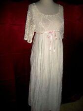 Edwardian Titanic Era Irish Crochet Top Lingerie Cotton Gown M