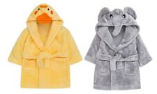 Infants Boys Girls Novelty Night Dressing Gown Duck Elephant Bath Robe Size Age