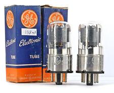 2x 6C5GT/6C5G GE NOS MATCHED Tube Röhre Valvula Lampe TSF Valvola Valvula
