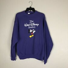 Walt Disney Studio Pullover Sweatshirt Size XL Purple Vtg