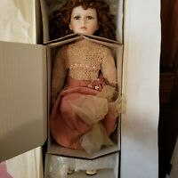 """William Tung 24"""" Porcelain Doll """"Hannah"""" New In Box, COA Included"""
