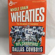 Wheaties Cereal Box Dallas Cowboys 1993 Edition Super Bowl XXVIII Champions Vtg