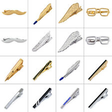 Mens Ties Clasps Gold Silver Black Red Metal Tie Necktie Clip Bar Pin Practical