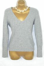J CREW Grey wool/cashmere blend cable knit jumper, MEDIUM