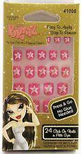 Lot of 12 Bratz Stick On Nails - Pink Star 41008