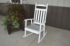 Outdoor Classic Front Porch Rocker Amish Made in the USA - Redwood Stain Option