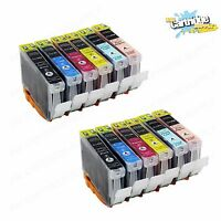 12 Pack CLI8 CLI-8 Ink For Canon Pixma iP6600D iP6700D MP950 MP960 MP970