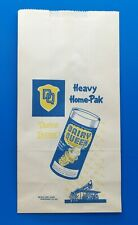 Authentic 1940 Dairy Queen HEAVY HOME-PAK Ice Cream Bag Rare Gaylord Bag Co.
