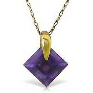 "Amethyst 18"" Necklace In 14K Yellow Gold (1.16 Carat)"