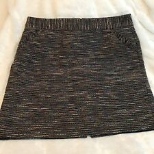 Ann Taylor LOFT Womens size16 Skirt Tweed Front Pockets Fully Lined