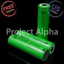 2 X LG MJ1 HIGH DRAIN 10A RECHARGEABLE INR 18650 Battery 3500mAh W/ CASE - USA