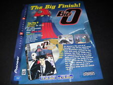 The BIG O the big finish..... Vintage ANIME Promo Ad mint condition