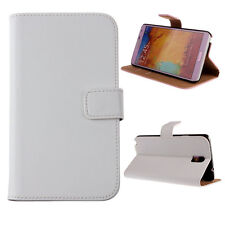 WHITE GENUINE WALLET FLIP LEATHER CASE COVER FOR SAMSUNG GALAXY NOTE 3 N9000