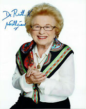 Dr. Ruth Westheimer hand signed Autograph Autogramm COA -- Sexualtherapeutin