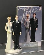 "Cake Topper The Love Pinch Bridal Couple Figurine 5 5/8"" Weddingstar NIB"
