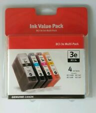 Genuine Canon BCI-3e 4 ink Multi-Pack Black, Cyan, Magenta, Yellow New Sealed