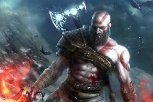 God of War Kratos Poster 24X36 inches